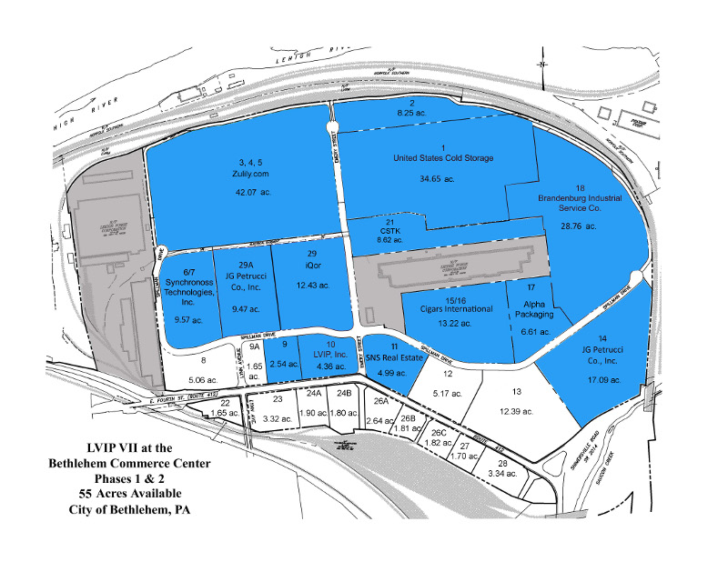 Lehigh Valley Zip Code Map.Lehigh Valley Industrial Parks